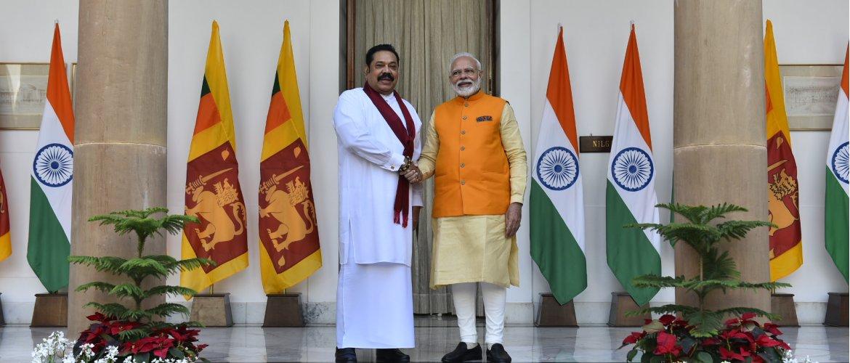 Prime Minister Shri Narendra Modi held bilateral talk with Sri Lanka Prime Minister Honorable Mahinda Rajapaksa  at Hyderabad House during his 5 days state visit to India.