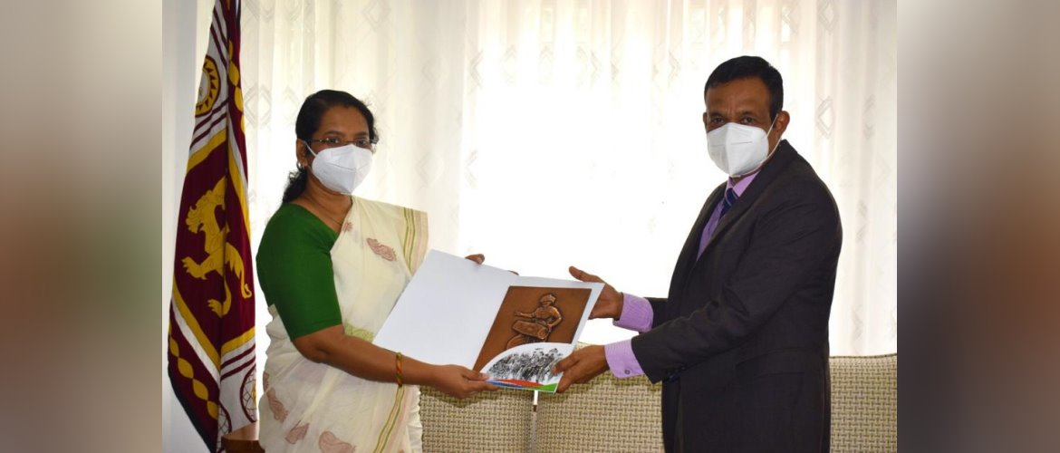 Dr. Athira S., Assistant High Commissioner of India in Kandy called on H.E. Mr. Lalith U. Gamage , Hon'ble Governor of Central Province on 12 August 2021